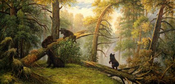 Ранок у сосновому лісі