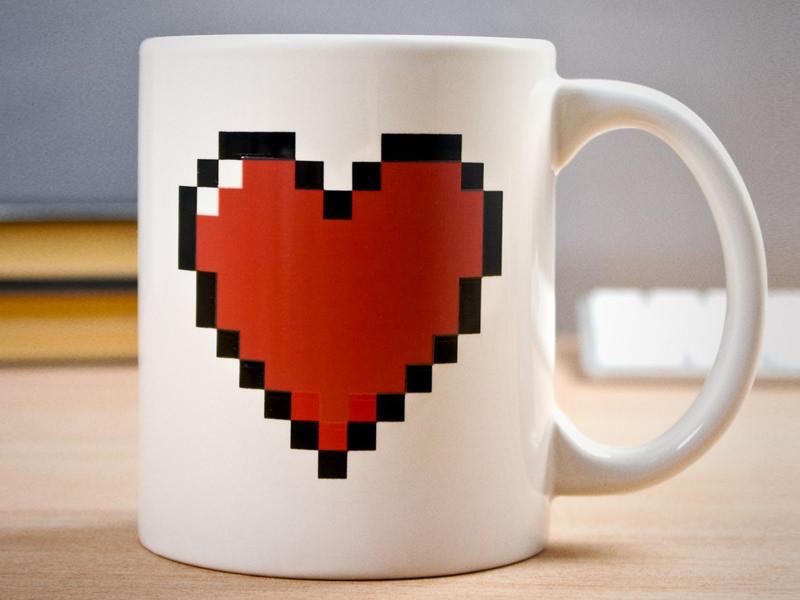 Термочутлива кружка «Серце»
