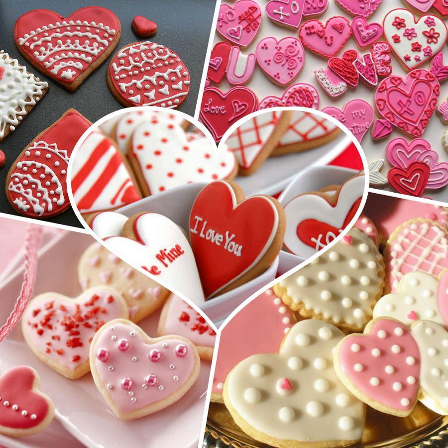 Печиво у відео сердечок на День Святого Валентина