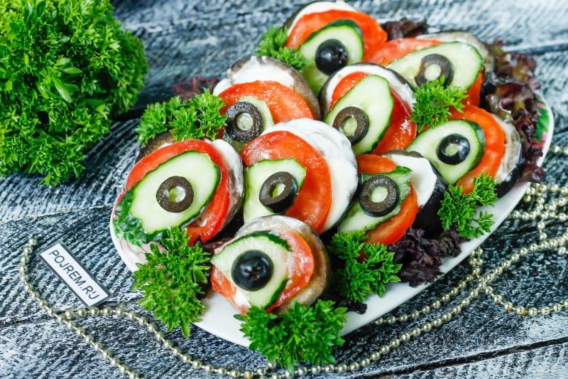 Бутерброди «Павлиний хвіст»