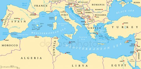 Цікаві факти про Середземне море