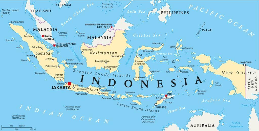 Індонезія на карті світу